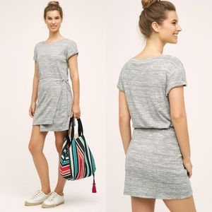 Maeve grey stretchy and soft wrap dress